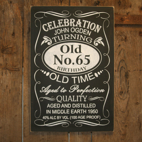 Chalkboard - Old No. 'Personalised' - Extra Large Rectangle - 400 x 600 mm