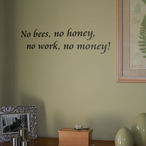 No bees, no honey...