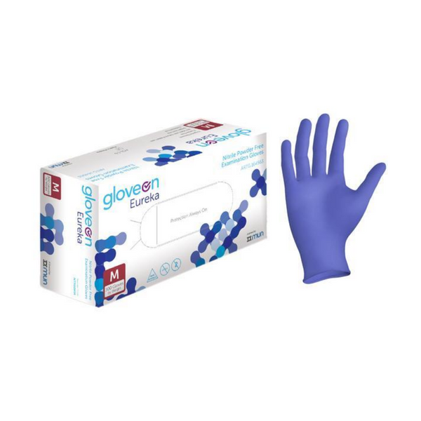 100 x Nitrile Gloves Medium - Sanity Cares