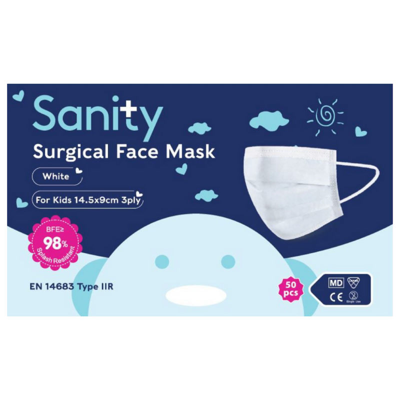 50 x Face Masks Type IIR Kids size - Sanity Cares
