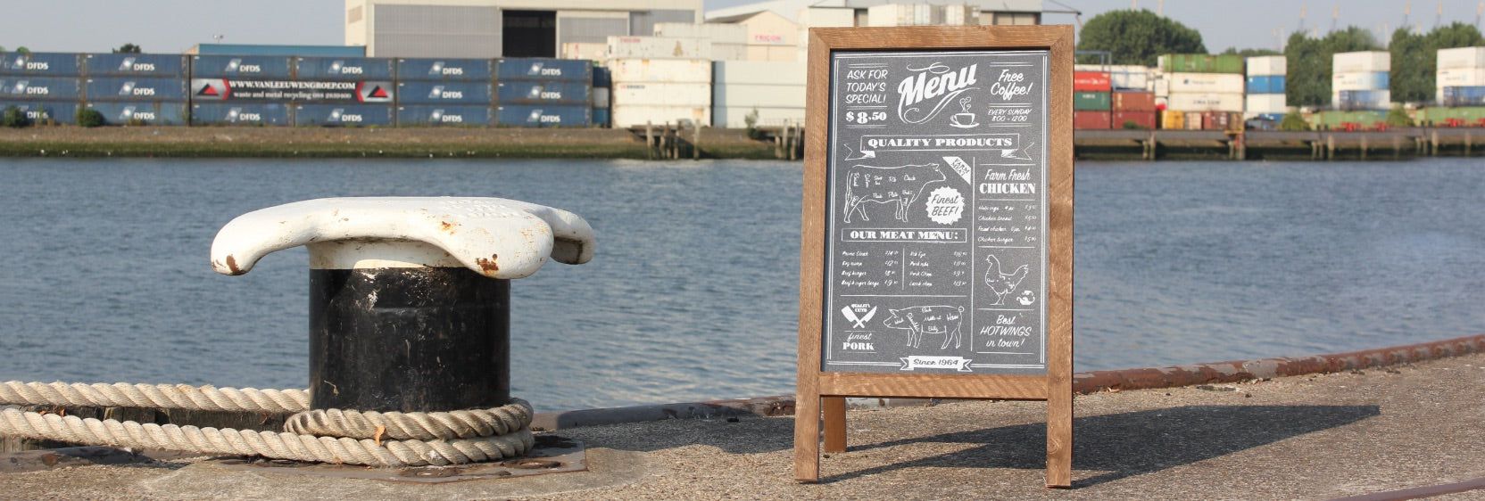 46 x 80cm Pavement Signs at display-sign.co.uk