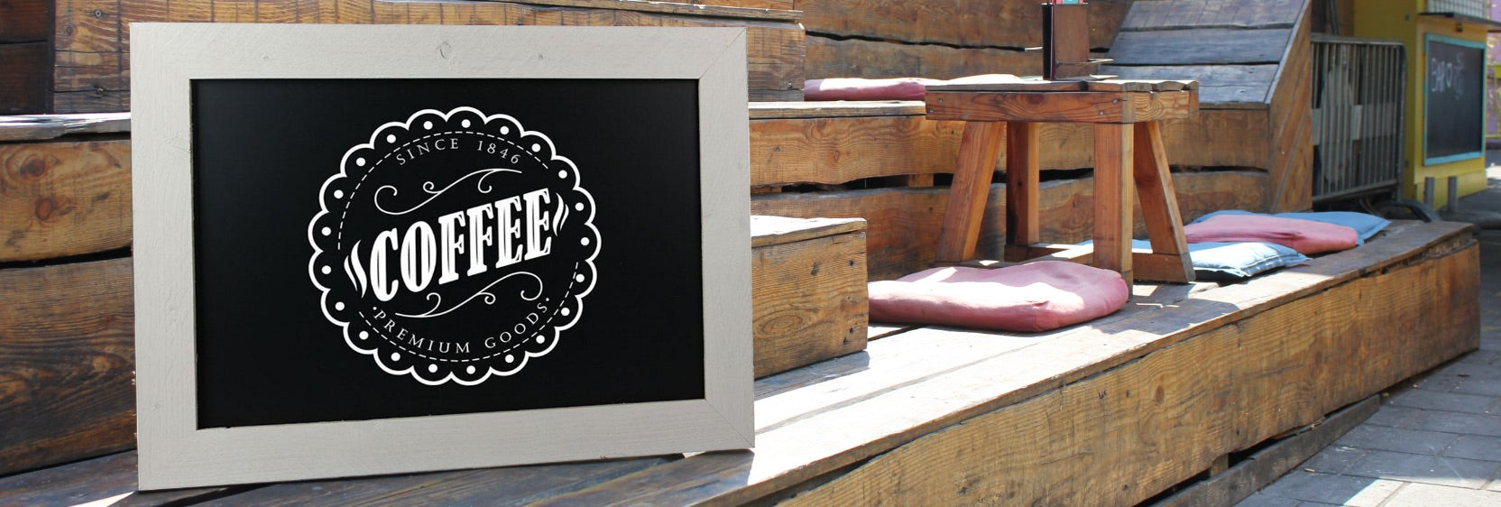 White Chalkboards at display-sign.co.uk