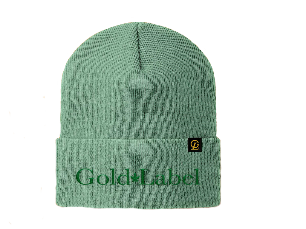 GOLD LABEL GREEN BEANIE