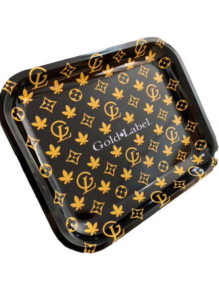 OFFICIAL GOLD LABEL ROLLING TRAY