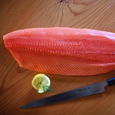 Fresh Organic Chinook Salmon - 1lb side-finsathome