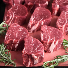 Load image into Gallery viewer, Beef Tender Medallions - 4oz ea, 8 pc frozen pack ❄️**ONLINE ONLY**-finsathome