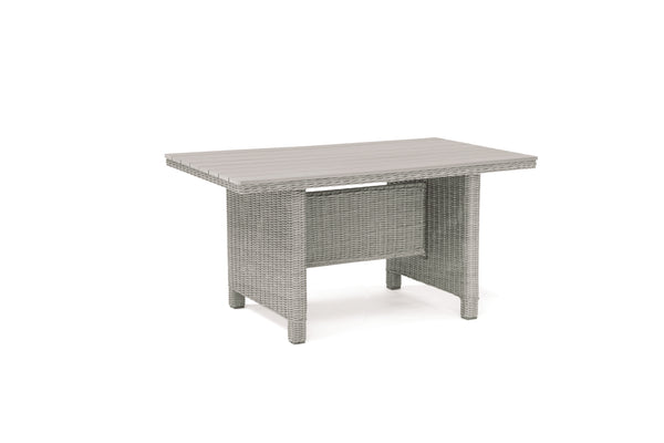 Palma Mini Dark Oak Slat Top Table