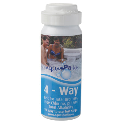 Aquasparkle 4-Way Test Strips (Chlorine, Bromine, pH & Total Alkalinity)