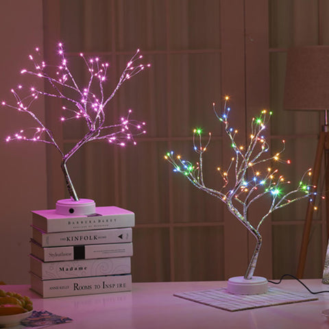 Beautifully crafted in the image of a delicate bonsai tree, covered in marvelous warm lights. Choose from our ambient cherry blossom in a pearls of warm sunshine, rich pink bloom, or the original spirit tree glittering with light.