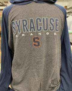 "Tall Men's Syracuse Blue/Gray ""S""® Long Sleeved Hoodies"