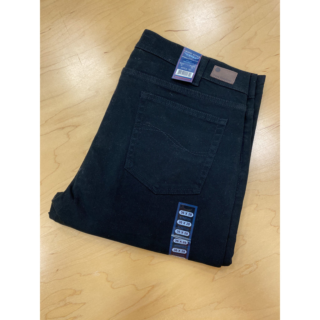 Grand River Black Stretch jeans give you the comfort of jeans with a dressier color option for all occasions