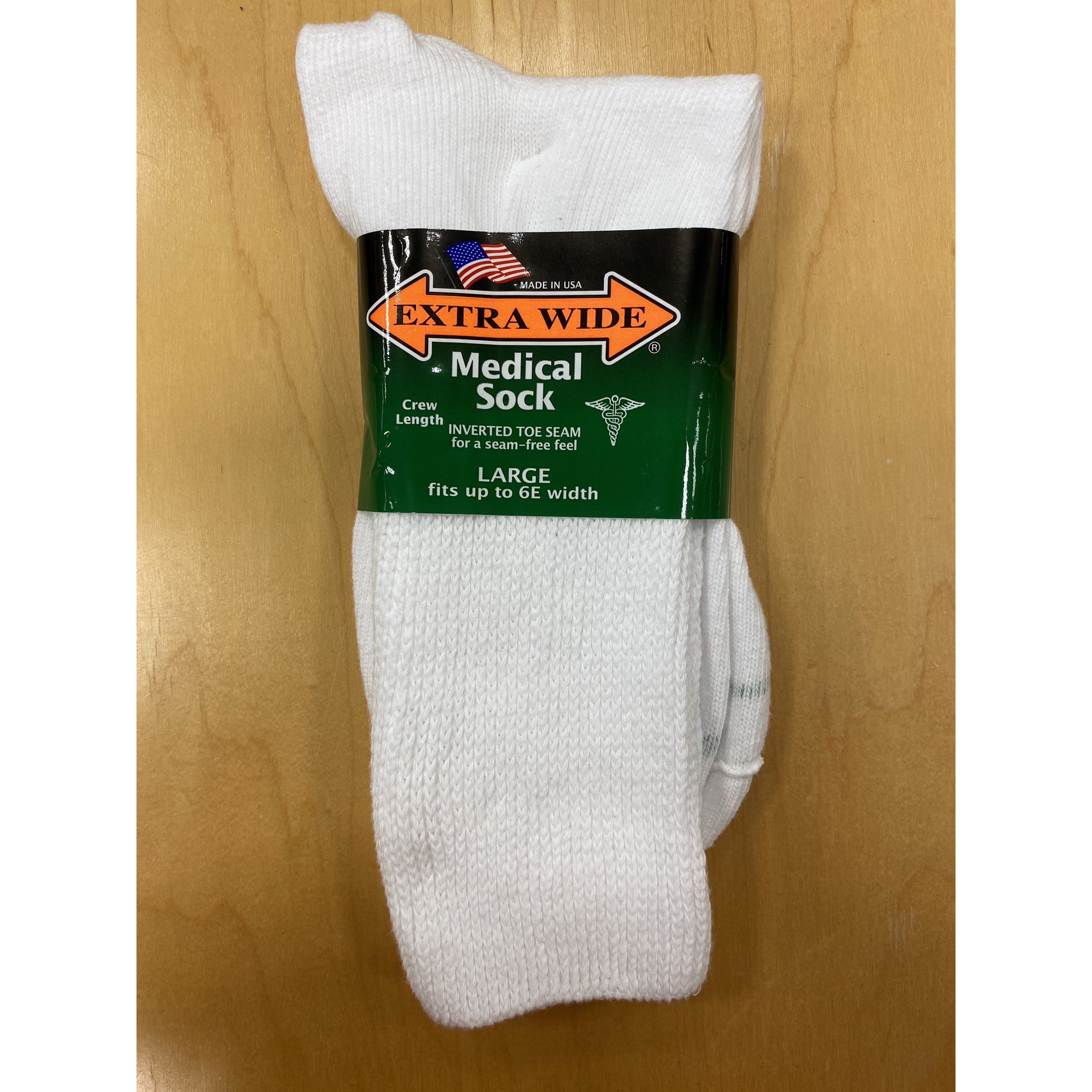 Inverted toe seam, non-binding, MEDICAL extra wide quarter top anklet socks. For those with wider feet who are tired of squeezing into tight, uncomfortable socks. These comfort fit, extra wide anklet socks are great for wide feet, swollen legs and people with medical conditions such as edema, diabetes and circulatory problems.