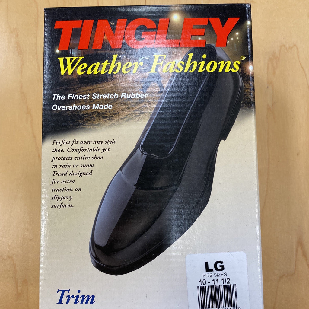 Tingley® Trim Shoe Protectors protect your dress shoes and provide traction on slippery surfaces. 100% waterproof overshoes protect your shoes from rain, snow and salt damage. Fits over virtually every shoe style and size.