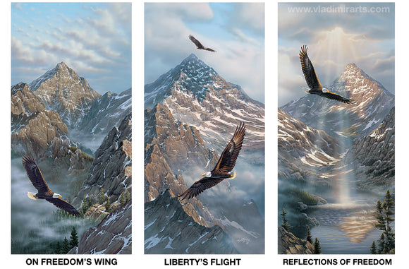American Freedom - SET OF 3 - by Rick Kelley