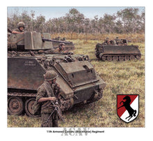 Load image into Gallery viewer, 11th Armored Cavalry ACAVs by Jody Harmon