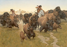 Load image into Gallery viewer, Amidst the Thundering Herd by Frank C. McCarthy