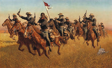 Load image into Gallery viewer, BUFFALO SOLDIERS ADVANCE AS SKIRMISHERS CHARGE by Frank C. McCarthy