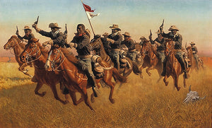 BUFFALO SOLDIERS ADVANCE AS SKIRMISHERS CHARGE by Frank C. McCarthy