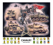 Load image into Gallery viewer, Cavalry Regimental Print by Jody Harmon