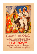 Load image into Gallery viewer, Come Along Learn Something Navy