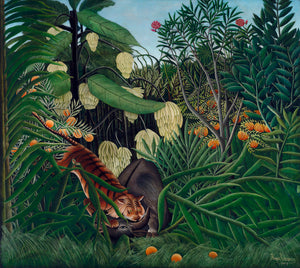 Fight between a Tiger and a Buffalo by Henri Rousseau