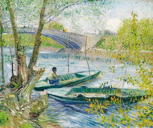 Fishing In The Spring by Vincent Van Gogh
