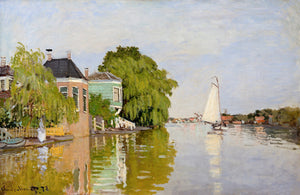 Houses on the Achterzaan by Claude Monet
