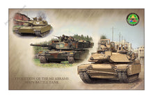 Load image into Gallery viewer, Evolution of the M1 Abrams Main Battle Tank by Jody Harmon