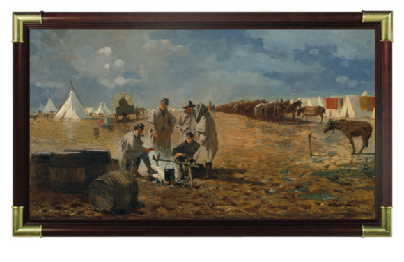 A Rainy Day In Camp by Winsolow Homer.
