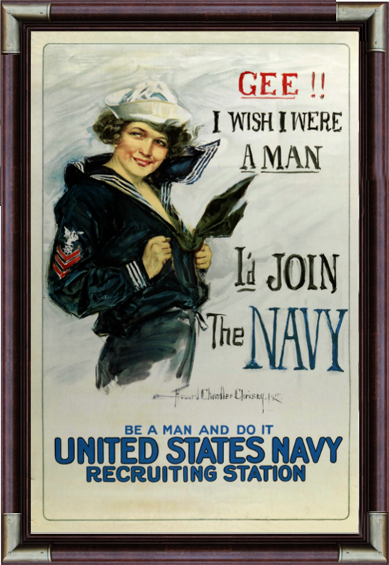 Gee I wish I were a man I'd join the Navy