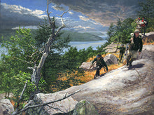 Load image into Gallery viewer, Rogers Rangers toward Ticonderoga 1759 by John Buxton