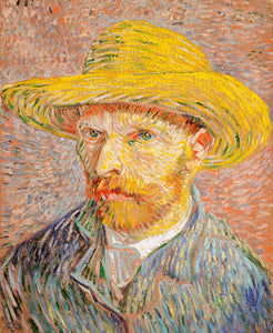 Self-Portrait with a Straw By Vincent Van Gogh