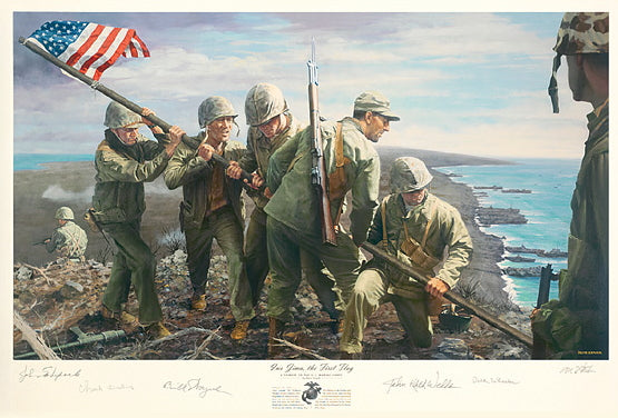Iwo Jima, the First Flag by Ron Stark