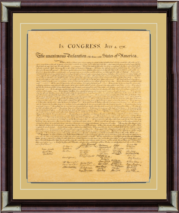 Declaration of Independence Framed (large)