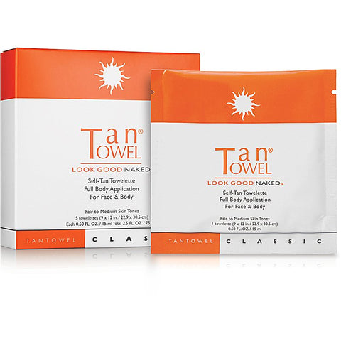 Classic Full Body Self-Tan Towelette - 5 Pack