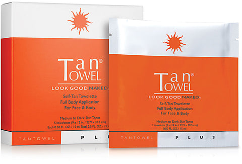 Plus Full Body Self-Tan Towelette - 5 Pack