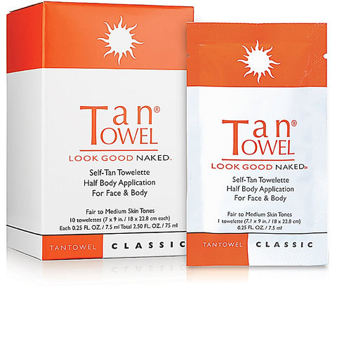 Classic Half Body Self-Tan Towelette - 10 Pack