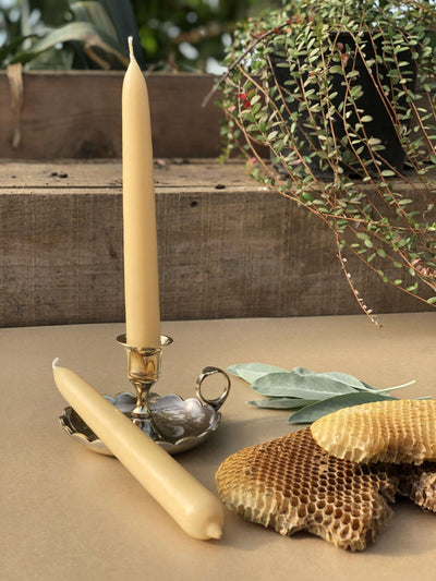 Hand Dipped Traditional Beeswax Candles - the good garden