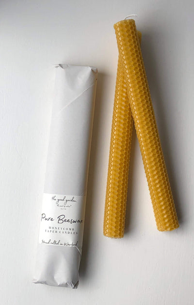 Honey Comb Beeswax Candles - the good garden