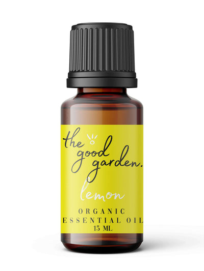 Organic Lemon Essential Oil - The Good Garden
