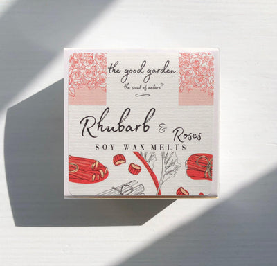 Rhubarb & Roses - Soy Wax Melts - the good garden