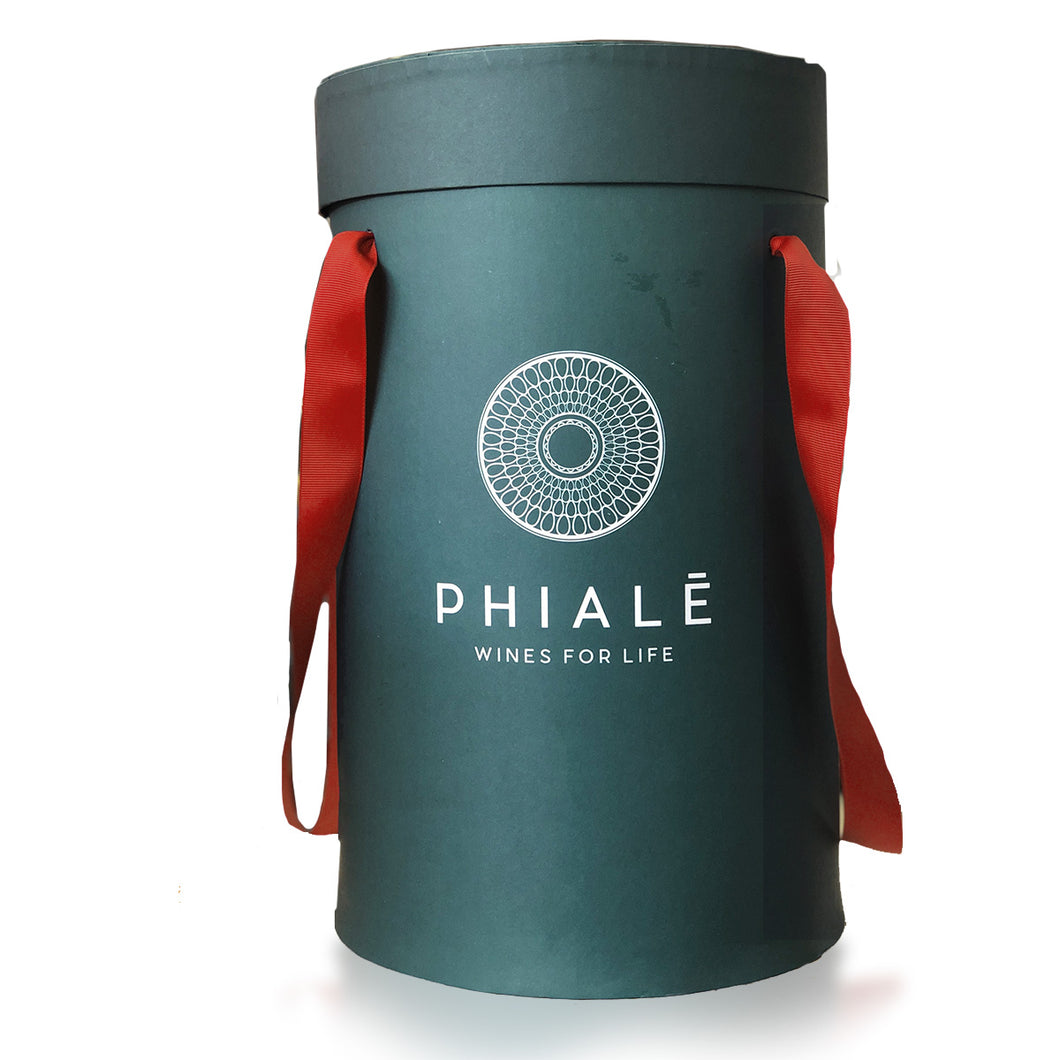 Phialē Wines Luxury Green Hatbox