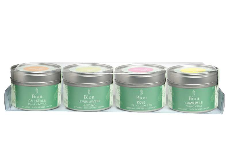 Bion Herbs Organic Teas in Tin Box
