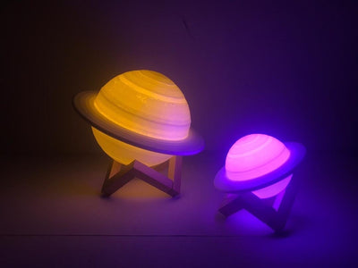 Cosmic Multi-Color Saturn Lamp - Cosmic Jelly