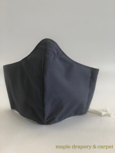 Black non-medical grade fabric face mask. Available in medium or large sizes. If you require 10 or more masks, please contact us directly. Wash each mask before use.