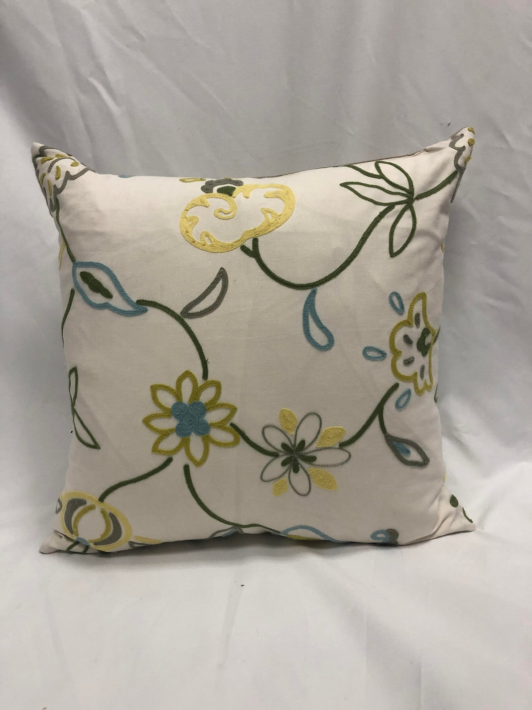 Green Flower Pillow