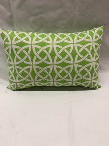 Lime Green Geometric Knot