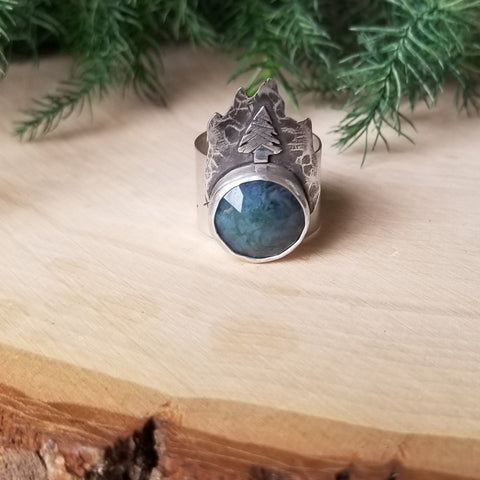 Moonlit Mountain Ring - Size 7.5