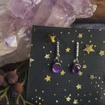 Freyja Earrings - Amethyst