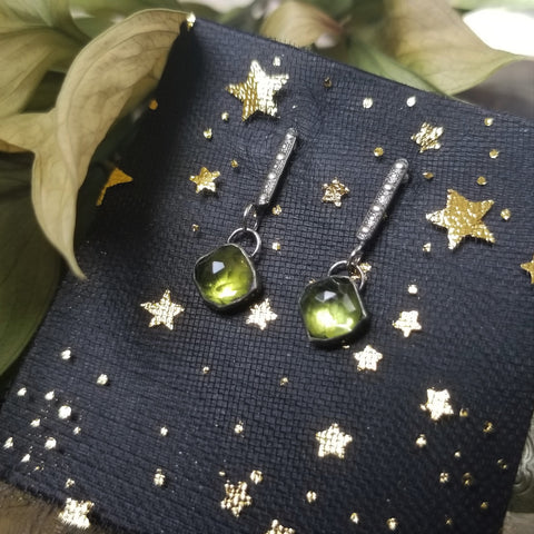 Freyja Earrings - Peridot